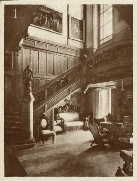 Klatka schodowa pałacu w Posadowie. Światowid ilustrowany kurjer tygodniowy. 1927, nr 32