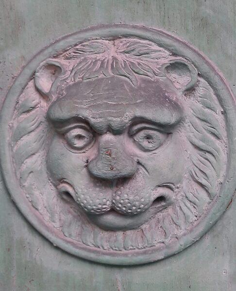 Lew na drzwiach przy ulicy Leszczyńskich, fot. M. Gołembka