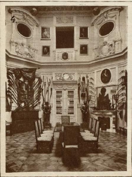 Zbrojownia w pałacu w Posadowie. Światowid ilustrowany kurjer tygodniowy, 1927, nr 32