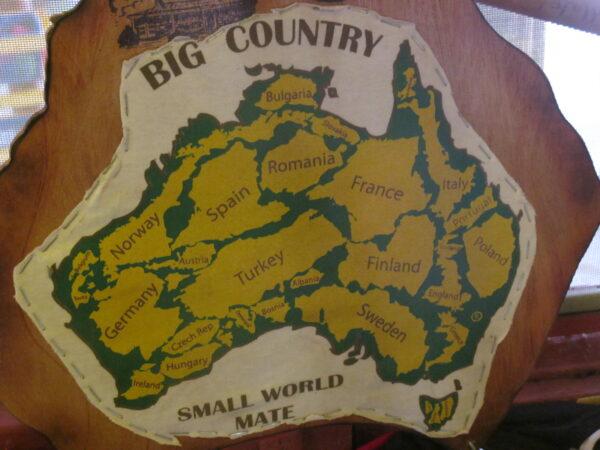 "Mapa Australii, fot. z książki pt. ""Australia, no worries"""