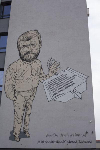 Mural na budynku wydziału Neofilologii Uniwersytetu im. Adama Mickiewicza w Poznaniu, fot. Oskar Czapiewski