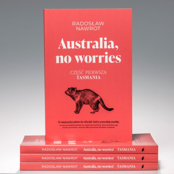 "Okładka książki pt. ""Australia, no worries"""
