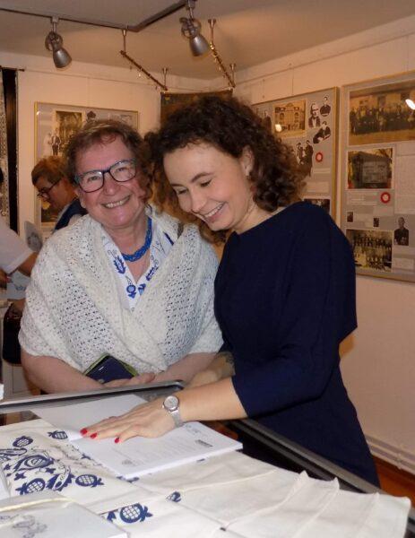 Z dyrektorką Muzeum Ziemi Złotowskiej, fot. z archiwum Marii Jaszczyk