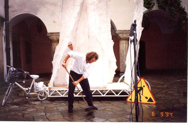 Jerzy Moszkowicz na planie RAM - DAM 1994, fot. zbiory prywatne