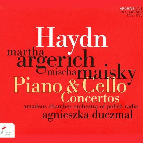 """Okładka płyty Orkiestry """"Amadeus"""" wydanej przez Narodowy Instytut im. F. Chopina z udziałem Marthy Argerich i Mischy Maisky'ego"""