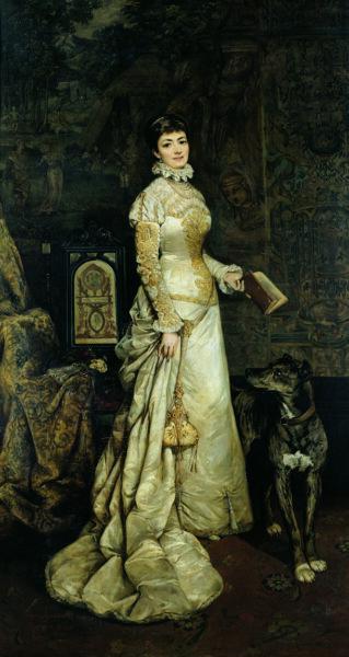 Portret Heleny Modrzejewskiej pędzla Tadeusza Ajdukiewicza z 1880 r., fot. Muzeum Narodowe w Warszawie