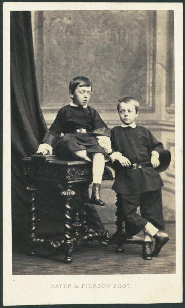 Władysław Zamoyski (syn) i Zygmunt Czartoryski, fot. Cyfrowe Muzeum Zamoyskich w Kozłówce