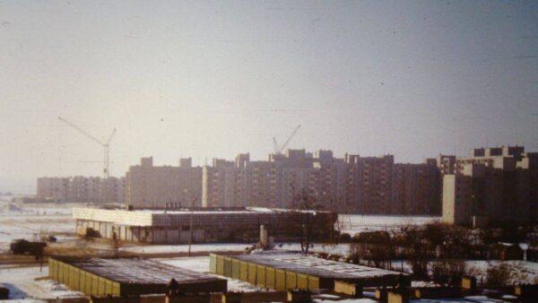 Budowa osiedla w latach 80 XX wieku, fot. Wirtualne Muzeum Fo