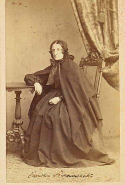 Emilia Sczaniecka, fot. Zakład Fotograficzny A i F Zeuschner , ok 1860-69, fot. Polona