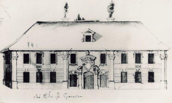 Budynek dawnego Gimnazjum przy ulicy Chrobrego, fot. FB Leszno w starym obiektywie