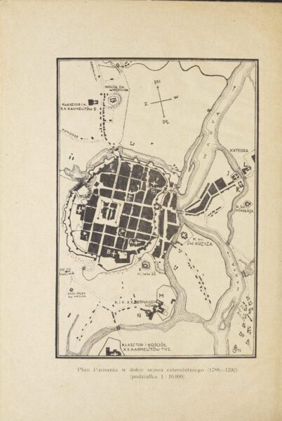 Plan Poznania, koniec 1788-1792, za F. Pohorecki, Opis Poznania z 1787, fot. Polona